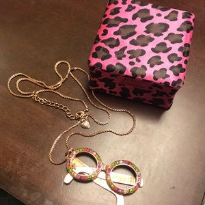 Betsey Johnson jeweled eyeglasses necklace